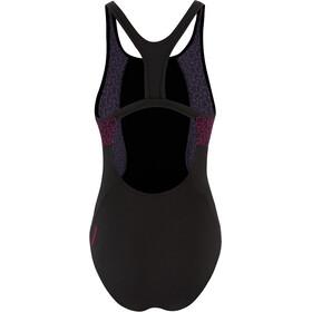 speedo Boomstar Splice Traje de Baño Flyback 1 Pieza Mujer, black/electric pink